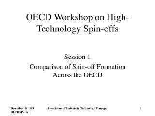 OECD Workshop on High-Technology Spin-offs