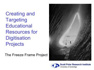 The Freeze Frame Project