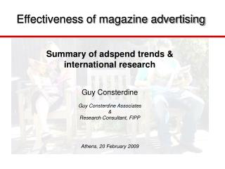 Effectiveness of magazine advertising