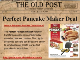Perfect Pancake Pan Review