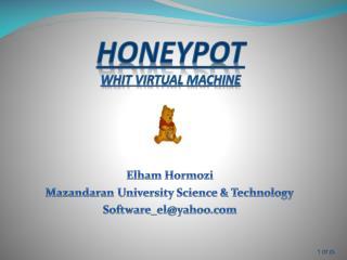 HONEYPOT whit virtual machine