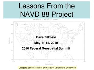 Lessons From the  NAVD 88 Project