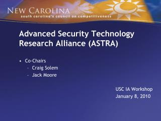 Advanced Security Technology                                Research Alliance ASTRA