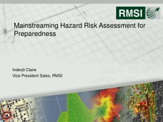 Mainstreaming Hazard Risk Assessment for Preparedness
