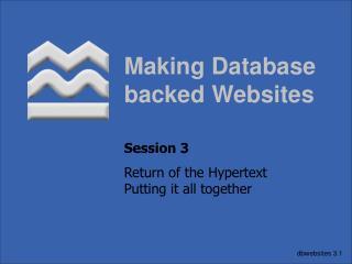 Making Database backed Websites