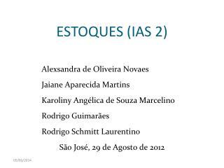 ESTOQUES IAS 2