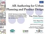 AR Authoring for Urban Planning and Product Design