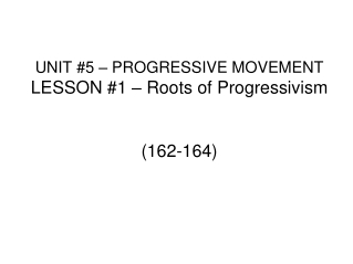 What is Progressivism