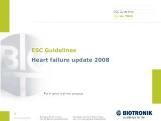 ESC Guidelines Heart failure update 2008