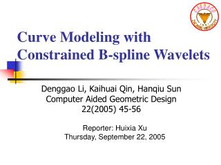 Curve Modeling with      Constrained B-spline Wavelets