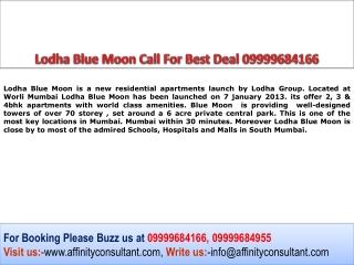 Apartments @ Worli Mumbai Lodha Blue moon