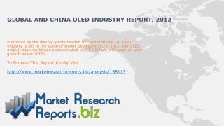 Global and China OLED Market Trends 2012:MarketResearchRepo