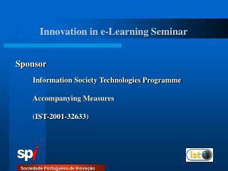 Information Society Technologies Programme  Accompanying Measures  IST-2001-32633