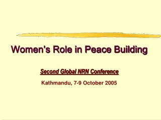 Women s Role in Peace Building