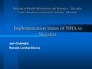 Institute of Health Information and Statistics