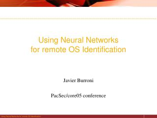 Using Neural Networks  for remote OS Identification