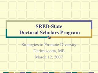 SREB-State  Doctoral Scholars Program
