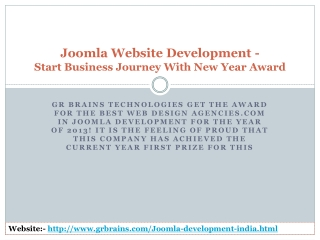 Joomla Website Development- Start Business Journey With New