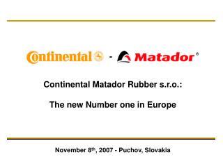 Continental Matador Rubber s.r.o.: