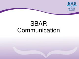SBAR Communication