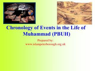 Chronology of Events in the Life of  Muhammad PBUH