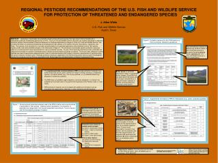 REGIONAL PESTICIDE RECOMMENDATIONS OF THE U.S. FISH AND WILDLIFE SERVICE