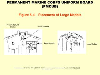 Figure 5-4.   Placement of Large Medals