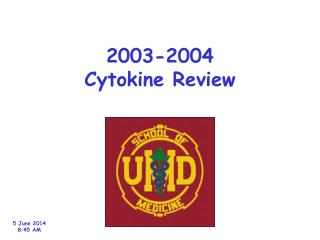 2003-2004 Cytokine Review
