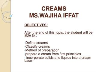 CREAMS MS.WAJIHA IFFAT