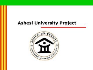 Ashesi University Project