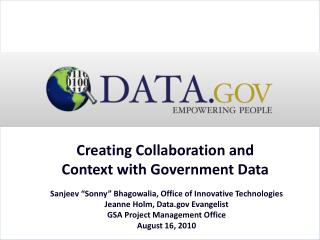 Creating Collaboration and Context with Government Data