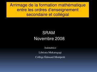 Arrimage de la formation math matique entre les ordres d enseignement secondaire et coll gial