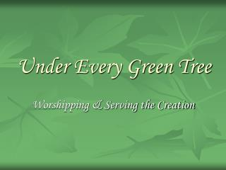 Under Every Green Tree