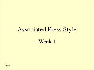 Associated Press Style