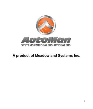 A product of Meadowland Systems Inc.