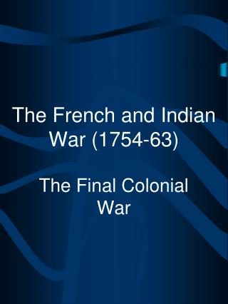 thesis french and idian war 1754 63