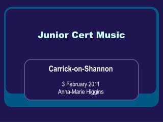 Junior Cert Music