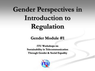 Gender Perspectives in Introduction to Regulation