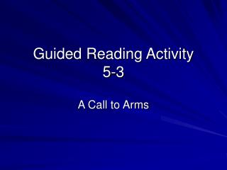 Guided Reading Activity 5-3