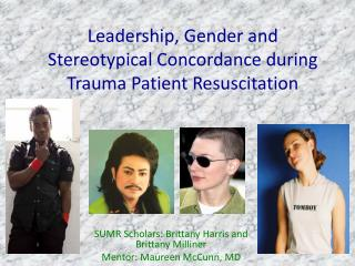 Leadership, Gender and Stereotypical Concordance during Trauma Patient Resuscitation