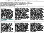 Year 9 Homework: Black Peoples of the Americas Autumn term 2011