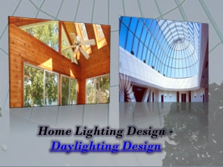 Daylighting Design