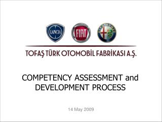 COMPETENCY ASSESSMENT and DEVELOPMENT PROCESS