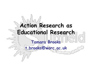 Action Research as Educational Research
