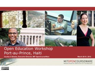 Open Education Workshop Port-au-Prince, Haiti