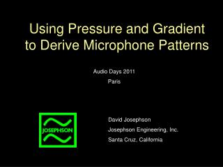 Using Pressure and Gradient to Derive Microphone Patterns