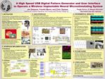 A High Speed USB Digital Pattern Generator and User Interface  to Operate a Wireless Implantable Neural Microstimulating