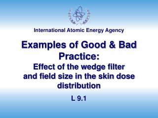 Examples of Good  Bad Practice: Effect of the wedge filter and field size in the skin dose distribution