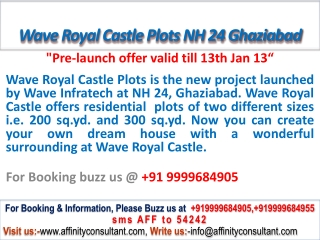 Wave Royal Castle Plots @09999684905