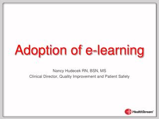 Adoption of e-learning